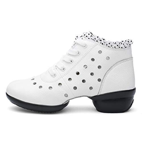 Damen Tanzschuhe Ledertanzschuhe Damen Square Dance Schuhe Segler Tanzstiefel Herbst und Winter Soft Bottom Jazz Dance Schuhe, 38