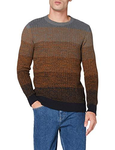 Pierre Cardin Herren Multicolor Structure Strickpullover Pullover, Marine, XL