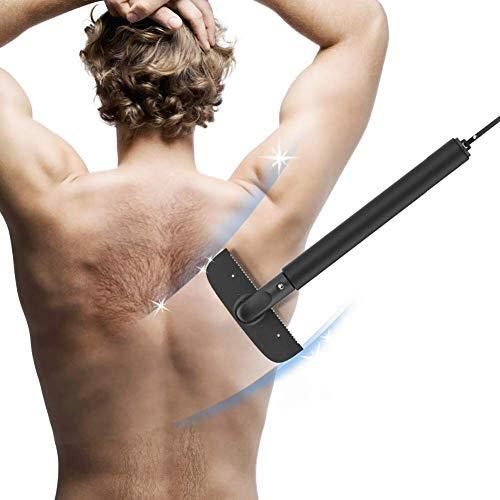Afeitadora de Espalda - Back Shaver Depilación para Hombres Corporal Maquinilla en Húmedo o en Seco,Elástica para Hombre Maquinilla de Afeitar Ajustable de Alta Calidad Fácil de Usar y Sin Dolor