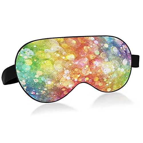 Schlafmaske, bunt, schwimmende Blasen, Regenbogen-Sonnenbrille, Augenmaske zum Schlafen, bunt, schwimmend, Regenbogen-Sonnenbrille, Schlafmaske für den Schlaf A75