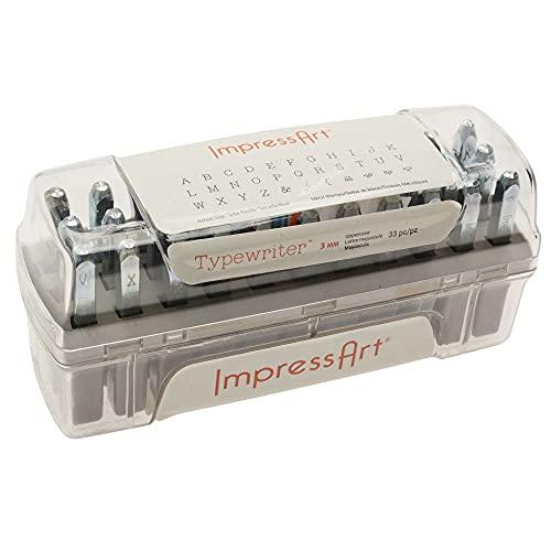 ImpressArt Typewriter Uppercase Letter Metal Stamps Set