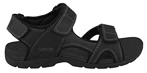 Vionic Gerrit - Mens Adjustable Sandal Black - 7
