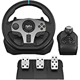 PXN V9 Gaming Racing Wheel, PC Steering Wheel with Pedals and Shifter for Xbox One, Xbox Series X/S, PS4, PS3, Nintendo Switch