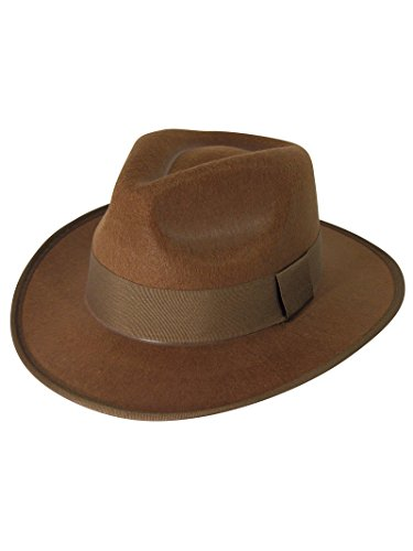 Forum Novelties 67395 Unisex-Adults Fedora Costume Headwear, One Size/Standard, Brown