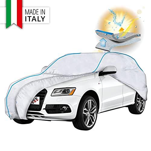 Walser Premium Autoplane Sun Reflect, UV-Schutzplane Auto, Hitzeschutz Auto, Sonnenschutz Vollgarage, Autoabdeckung, Autogarage, Größe 10