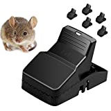 PRUGNA 6 Pack Mouse Traps, Rat Controler Killer Catcher, Mice Traps Indoor, More Powerful, More Sensitive, Reusable, Durable and Sanitary