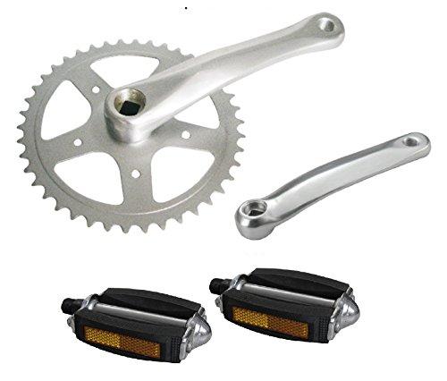 GUARNITURA + Pedali Bicicletta Classico - City Bike - Olanda PEDIVELLA Compresa