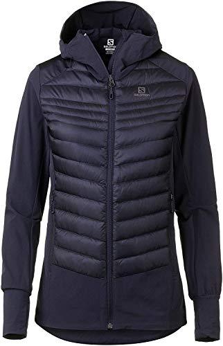 Salomon Haloes Down Hybrid Hoodie Sweatshirt, Damen M Mitternachtsblau