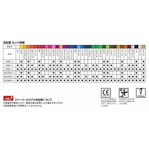 『ファーバーカステル 油性色鉛筆 平缶 36色セット TFC-CP/36C』の3枚目の画像