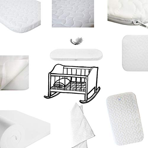 NeXTTOME - Sábana de colchón para cuna 100% totalmente de espuma, repuesto para recién nacidos Chicco + Funda acolchada lavable a máquina - Cuna Next2Me FUTON Next to ME