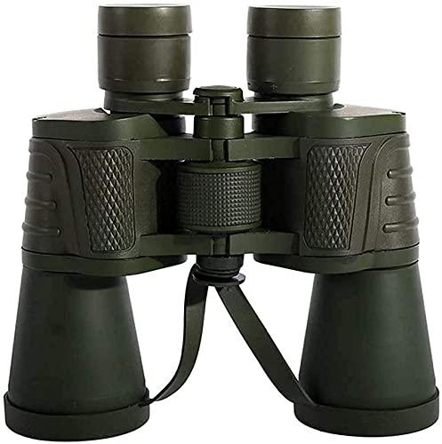 liliyda Telescopio monocular, 20X50 Potentes prismáticos-10X HD Gran Angular Cuerpo de Metal Presión y prismáticos a Prueba de Golpes Diseño Antideslizante para observación de Aves