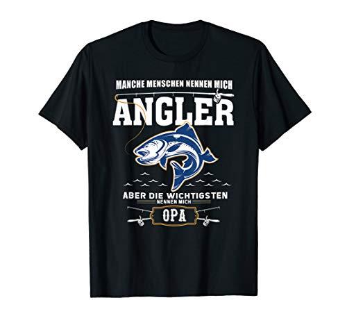 Angler Opa Fischer T-Shirt Angelrute Angeln Hobby Geschenk