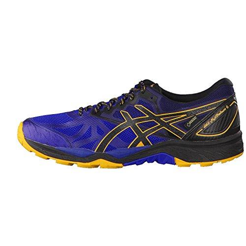 Asics Gel-Fujitrabuco 6 G-TX, Zapatillas de Running para Asfalto Hombre, Azul (Limoges/Black/Gold Fusion), 41.5 EU