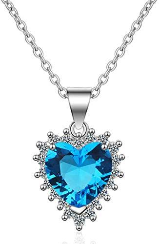 NC110 Collares Pendientes en Forma de corazón para Mujer Collar de Cadena de circón YUAHAOJIGE8