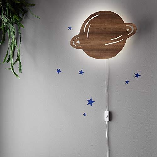 Ferm Living Planet wandlamp, gerookt eiken