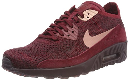 Nike Air MAX 90 Ultra 2.0 Flyknit, Zapatillas para Hombre, Rojo (Team Red/Rust Pink-Deep Burgundy 601), 44 EU