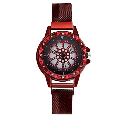 Dkings Reloj de Pulsera para Mujer Relojes Simples de Oro Rosa Reloj analógico de Cuarzo con Banda de Acero Inoxidable y Pantalla analógica