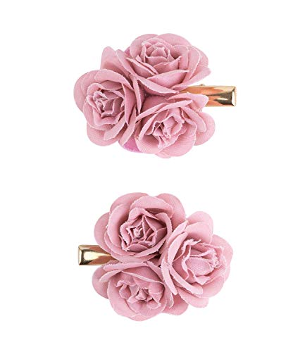 SIX Haarspangen mit Rose 2er-Set [Damen Haarschmuck] - Haarclips » Haar Clips « Frauen Schmuck im Blumen Design - Haarklammer - Haarnadeln - Klammer - Haarklammern - Haarspange (488-697)