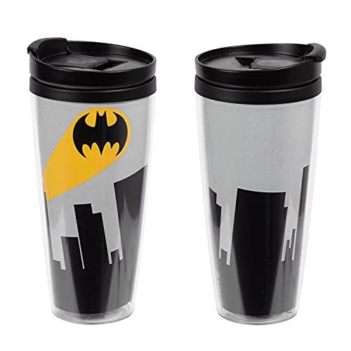 United Labels Batman - Tazza termica da 250 ml, tazza da caffè 2go, tazza da caffè