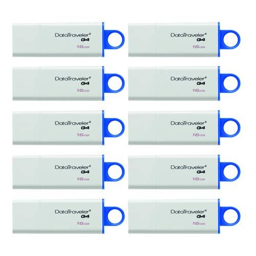 (Kit 10 Piezas) Kingston Technology DTIG4 Unidad USB 3.0, 16GB
