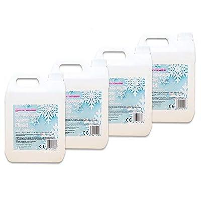 4 x 5L Premium Snow Fluid Artificial Snow Fake Snow Machine Liquid (20L total)