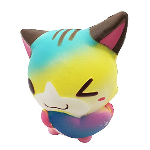 12cm Squishy Cute Cartoon Heart Cat Fox Slow Rising Cream Scented Squeeze Toy