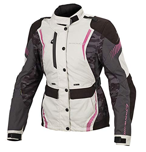Macna Beryl 2L Damen Motorradjacke grau-pink L - Motorradjacke
