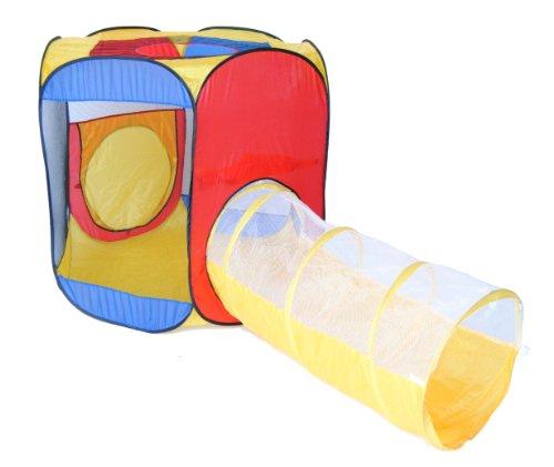EWONDERWORLD Six Sided Hexagon Twist Play Tent w/ Sunshine Crawl...