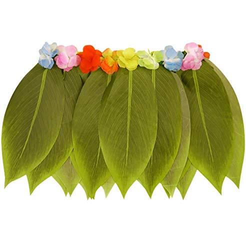 FashioN HuB Hula Set de accesorios para vestir para mujer, sujetador hawaiano, falda Hula Lei (falda de hula de la hoja talla nica)