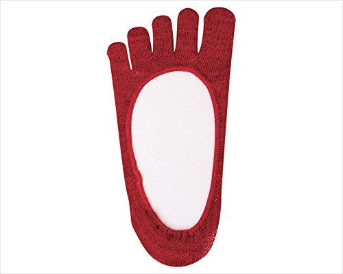 あかたび(健康5本指靴下) 夏用(フットカバータイプ) Mサイズ(22〜26cm)