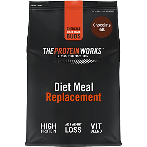 THE PROTEIN WORKS Diet Meal Replacement Shake | Nutrient Dense Complete Meal | Immunity Boosting Vitamins, Affortable | Healthy And Quick | Chocolate Silk | 1 kg