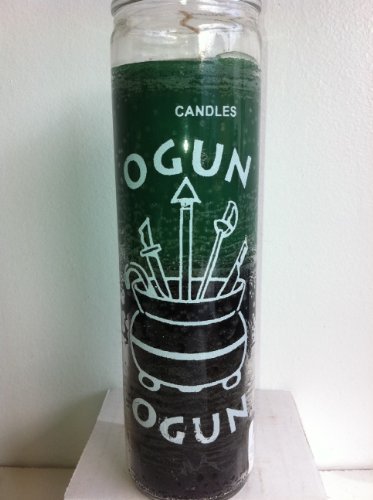 The Orisha Ogun 7 Day 2 Color Unscented Candle in Glass