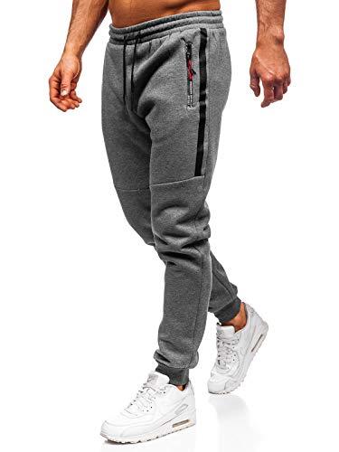 BOLF Herren Sporthose Trainingshose Jogginghose Fitnesshose Freizeithose Joggerhose Sport Style Must JX8982 Grau XXL [6F6]