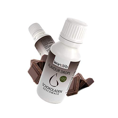 Lean:Life Flavour Drops - Aroma Tropfen - Schokolade - vegan, zuckerfrei, glutenfrei - ohne Kalorien - Made in Germany - 30ml