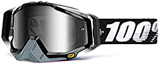 100% unisex-adult Goggle (Black, Mirror Silver, One Size) (RACECRAFT RC ABYSS Black Mirror Lens Silver) - 50110-001-02