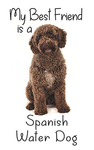 "My best Friend is a Spanish Water Dog: 8"" x 5"" Blank lined Journal Notebook 120 College Ruled Pages (Best Friends)"