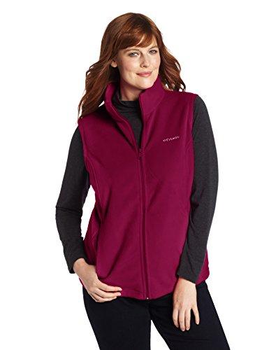 Columbia Women's Plus-Size Benton Springs Vest Plus, Dark Raspberry, 1X