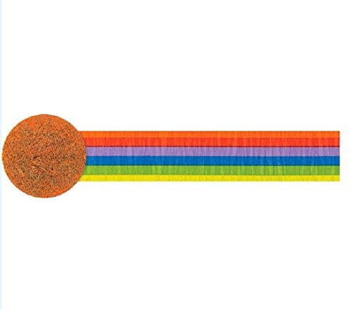 amscan Rainbow Printed Crepe Party Streamer