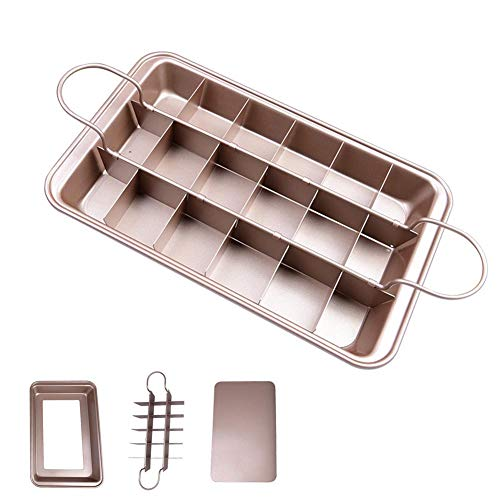 Brownie Pan with Dividers Rack All Edges Divided Slice Solutions 8 x 12 inch by Lufeiya