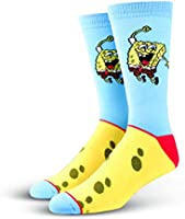 Cool Socks, Unisex, Nickelodeon, SpongeBob SquarePants, Crew, Cartoon Silly 90s Fun