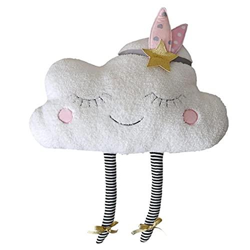 Amortiguador De La Almohadilla Adorable Nube Almohada Felpa Linda Nube Cojín En Forma De Nube Decorativo Almohadilla De Tiro De La Decoración del Hogar Regalo De Los Niños