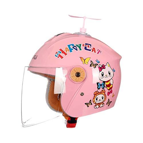 Casco para Motocicletas Infantiles, Dibujos Animados Motocicletas para niños Motocicleta Medio Casco...