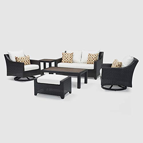 RST Brands Deco 6 Piece Love and Motion Club Seating Set Moroccan Cream