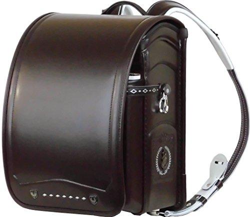 ふわりぃ 耐傷 ランドセル パイピンコンビ メガポケットモデル A4フラットファイル対応 (セピア(こげ茶)×ブラック)