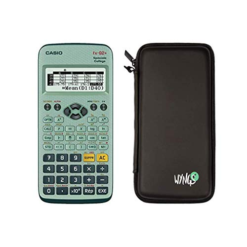 Casio FX-92+ Spéciale collège + Housse de protection compatible avec Casio FX-92+