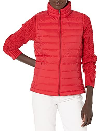 Amazon Essentials - Chaleco acolchado para mujer, plegable, ligero y resistente al agua, Rojo (red), US S (EU S - M)