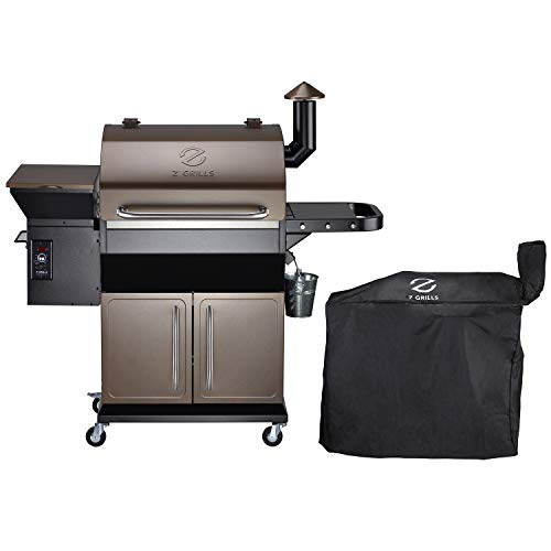 Z GRILLS ZPG-1000D Wood Pellet Grill Smoker for Outdoor Cooking with Cover, 2020 Upgrade, 8-in-1 & Pid Controller