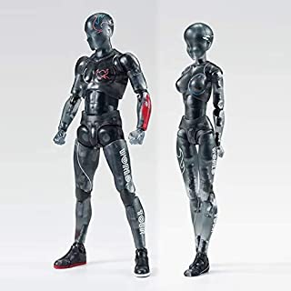 Black Clear Mannequin Model for Drawing Action Figures Movable Joints Body Set with Various Gestures,Model Stands,Funny Ac...