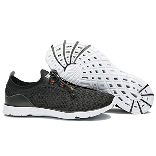 TIANYUQI Men's Mesh Slip On Water Shoes Black