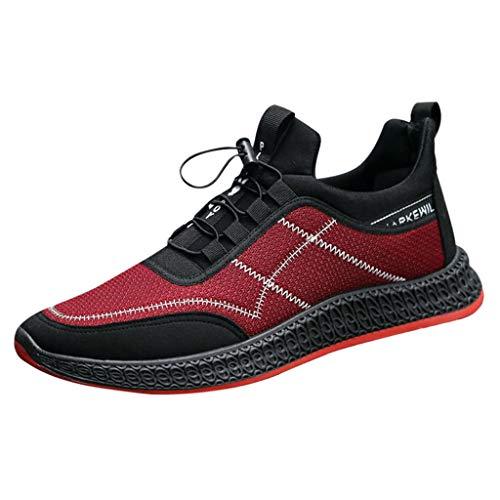 Xmiral Scarpe da Ginnastica Uomo Scarpe Casual da Uomo con Cinturino Fondo Piatto Scarpe Sportive 44 Rosso